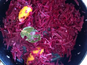 Homemade beetroot relish