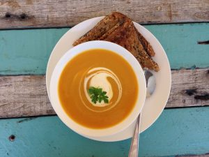 sweet potato and pumpkin soup