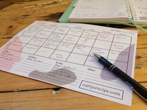 free meal planner organised