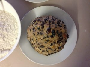 Homemade Christmas boiled pudding