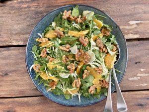 Rocket Fennel Walnut Salad